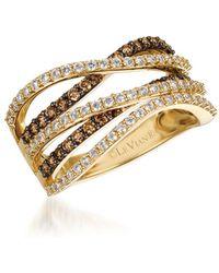 Le Vian - Chocolatier Vanilla Diamonds, Chocolate Diamonds & 14k Honey Gold Ring - Lyst