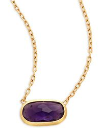 Marco Bicego | Delicati Amethyst & 18k Yellow Gold Necklace | Lyst