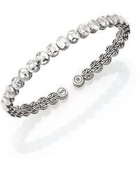 John Hardy Palu Sterling Silver Slim Flex Cuff Bracelet - Metallic