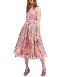 Kate Spade Floral Dots Burnout Dress - Pink