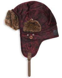 True Religion - Faux Fur-trimmed Aviator Hat - Lyst