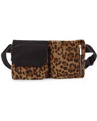 Kendall + Kylie Kai Faux Fur Leopard Belt Bag - Multicolour