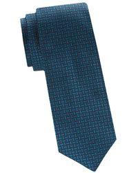 Saks Fifth Avenue - Mosaic Print Silk Tie - Lyst