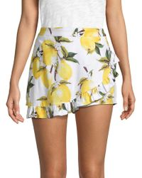 Lucca Couture Ana Faux Wrap Skort - Yellow