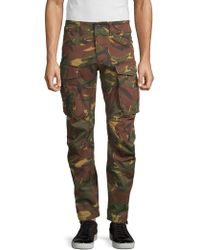 G-Star RAW Rovic 3d Straight Tapered Camo Cargo Pants - Green
