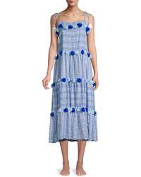 Tessora Lola Tie Tassel Dress - Blue
