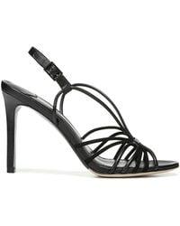 Diane von Furstenberg Milena Suede Slingback Sandals - Black