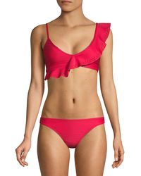 Mouillé Swimwear Emma 2-piece Ruffle Bikini - Red