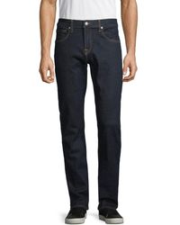 7 For All Mankind Men's Textured Straight-fit Jeans - Rinse - Size 30 - Blue