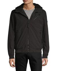 Michael Kors Faux Fur-lined Zip-up Jacket - Blue