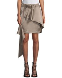 570909fe6 Asymmetric Khaki Mini Skirt - Natural