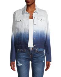 525 America Women's Ombré Denim Jacket - Midnight Multi - Size S - Blue