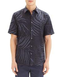 Theory Men's Menlo Standard-fit Short-sleeve Shirt - Eclipse - Size Xl - Black