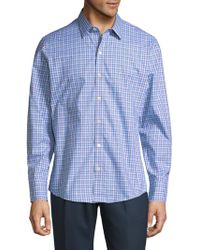 Zachary Prell - Plaid Cotton Button-down Shirt - Lyst