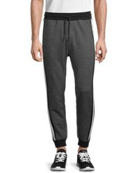 Karl Lagerfeld Striped Knit Track Trousers - Grey