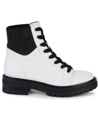 Kenneth Cole Rhode Combat Boots - White