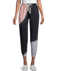 Lea & Viola Tie-dye Jogger Trousers - Black