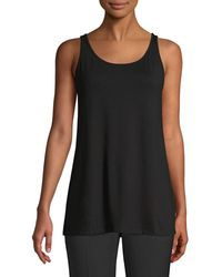 Eileen Fisher System Jersey Tunic - Black