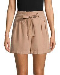 BCBGMAXAZRIA Tie Paperbag Shorts - Multicolour