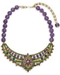 Heidi Daus - Beaded Crystal Statement Necklace - Lyst