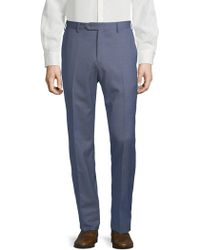 Lubiam - Checkered Wool Trousers - Lyst