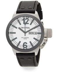TW Steel - Ceo Canteen Stainless Steel Leather Strap Watch - Lyst
