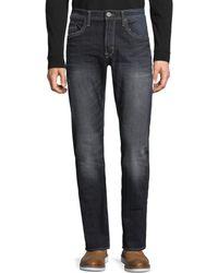 Buffalo David Bitton Men's Slim Straight Distressed Jeans - Distressed - Size 30 32 - Blue