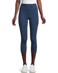 Nine West Zip-pocket Capri Leggings - Blue