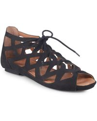 Gentle Souls - Brielle Lace-up Leather Sandals - Lyst