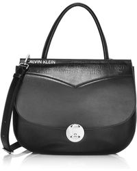 CALVIN KLEIN 205W39NYC Small Leather Crossbody Bag - Black