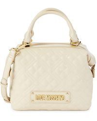 Love Moschino Mini Quilted Faux Leather Top Handle Bag - Multicolor