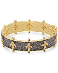 Freida Rothman - Fleur De Lis Crystal Bangle Bracelet - Lyst