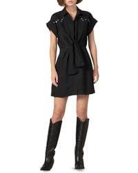 Sandro Women's Mavel Studded Tie-front Dress - Black - Size 38 (m)