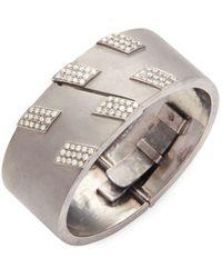 Arthur Marder Fine Jewelry - Silver & Champagne Diamond Bracelet - Lyst