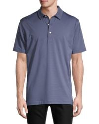 Dunning Men's Striped Button-front Henley - Orchid - Size Xl - Blue