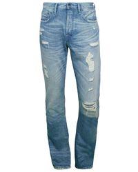 PRPS Men's Carrollton Destroyed Straight Jeans - Light Wash - Size 30 - Blue