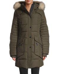 Pajar Maquinna Fox Fur-trim & Duck Down Jacket - Green