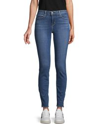 L'Agence Mid-rise Skinny Jeans - Blue
