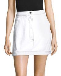 Public School Paige Denim Skirt - White
