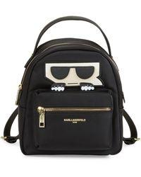 Karl Lagerfeld Amour Nylon Backpack - Black