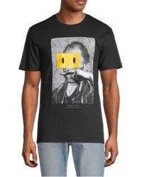 ELEVEN PARIS Men's Van Gogh Smile T-shirt - White - Size L
