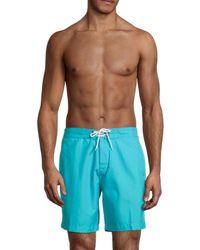Trunks Surf & Swim Men's Drawstring Swim Shorts - Blue - Size L