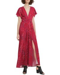 French Connection - Floral Wrap Dress - Lyst