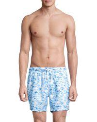 Bertigo Printed Swim Trunks - Blue
