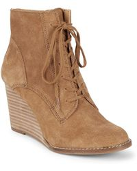 Lucky Brand - Yelloh Wedge Booties - Lyst