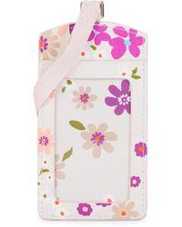 Kate Spade Floral-print Badge Holder - Pink