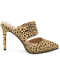 BCBGeneration Women's Harlina Calf Hair Leopard-print Mule Court Shoes - Cheetah - Size 5.5 - Metallic