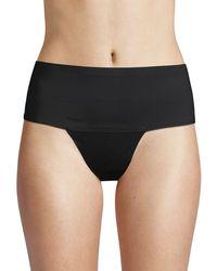 Ava & Aiden Bonded Edge Wide High-waist Thongs - Natural