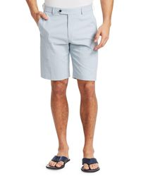 Saks Fifth Avenue Collection Check Seersucker Shorts - Blue