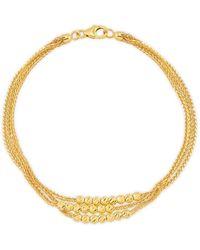 Saks Fifth Avenue Women's 14k Yellow Gold Multi-strand Bracelet - Metallic